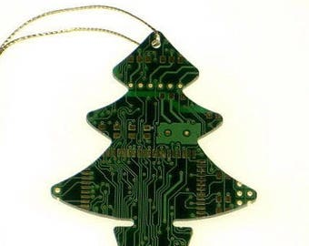 Real Circuit Board Christmas Decoration Tree/Star/Snowman - Tech Accessories - Office Gifts - Geeky Gifts