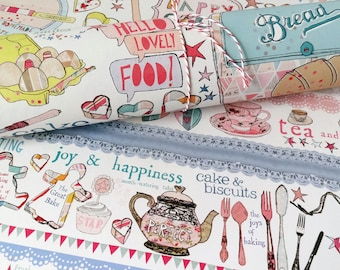 Baking gift wrap, Recycled Wrapping Paper, Three Sheets, baked with love, cake wrapping paper, Cake Giftwrap, Gift for Cake Lover, tea&cake