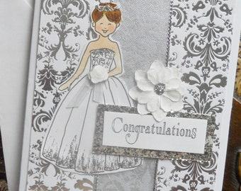 Bride Wedding or Shower Card