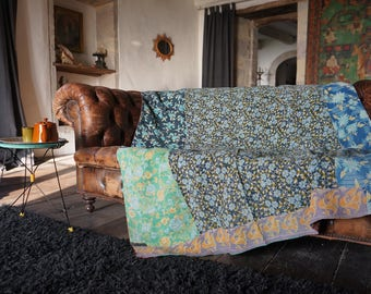 Bed throw or bedspread (bed spread) odd vintage Bohemian chic