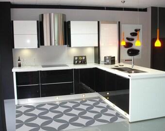 mexikanische vinyl teppich rolle bodenblech kachel design f r. Black Bedroom Furniture Sets. Home Design Ideas