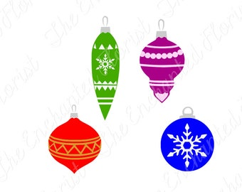 Christmas Ornaments SVG, Christmas Cutting File, snowflake, Trim the Tree cutting plotter files, SVG, pdf, png, eps, dxf Silhoutte, Cricut