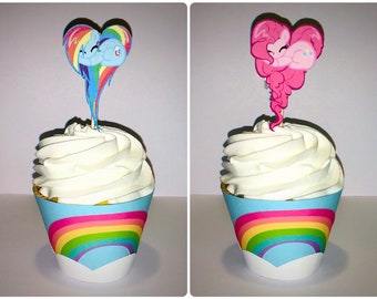 Pony cupcake toppers and/or wrappers