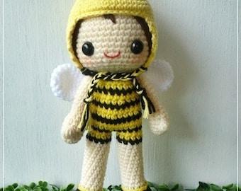 PDF Crochet Pattern - Bubble Bee