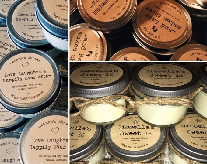 30 Soy Candle Favors  ***CUSTOM ORDER***