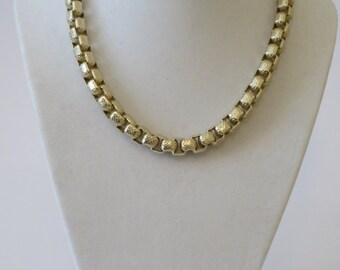 Sarah Coventry Vintage Large Links Brushed Gold Necklace