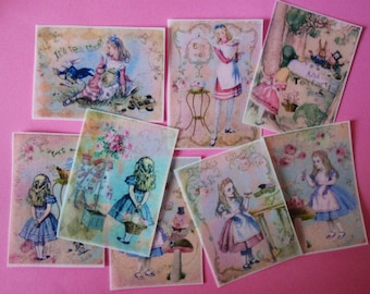 Alice in Wonderland Wafer Paper Edible Images for Cookies, Cakes and Cupcakes