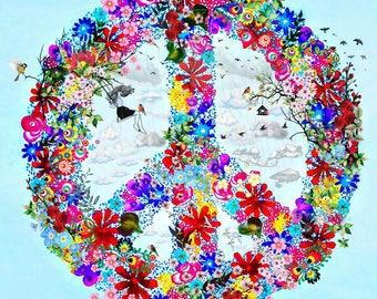Peace Floral Dream Print