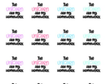 The Unicorn Ate My Homework | 5010 | Planner Stickers | Kikki-K | Happy Planner | Erin Condren