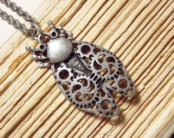 Clockwork Insect Necklace
