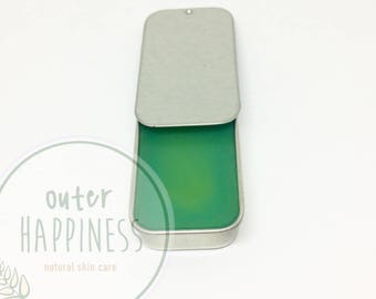 Organic Mint Beeswax and She Butter Lip Balm ( colorless)