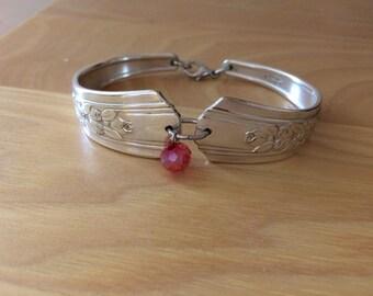 Rosalie spoon bracelet silver plated