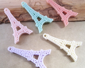 20pcs assorted Color (5 color) Resin Tower 24mmx45mm