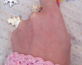 Pink Crochet Jewelry, Crochet Bracelet, Pink Beaded Bracelet, Fabric Bracelet, Fiber Art Jewelry, Pink Lace Jewelry, Pink Textile Jewelry
