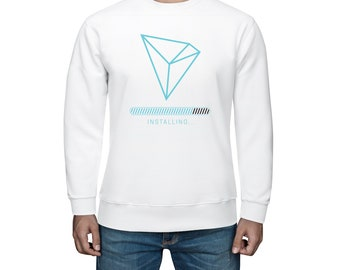 Tron trx mens sweatshirt Crypto gift Tronix blockchain clothing Tron trader sweatshirt Trx cryptocurrency Neon electric tron installing