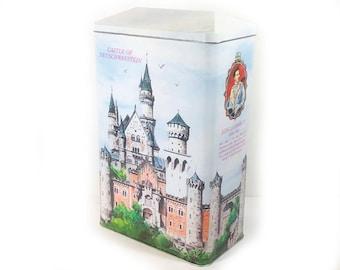 Vintage Neuschwanstein Castle Tin - Extra Large Tin Box