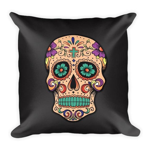 Sugar Skull Unisex Raglan Tumblr Hipster Grunge Aesthetic Day of the Dead Psychedelic Urban Rad Mexico Baseball Tee nGE96r0cD