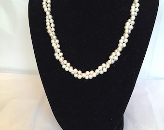Tiny Twist Freshwater Pearl Beaded Necklace
