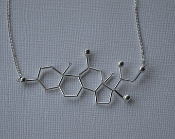 Biolojewelry - Cortisol Molecule Necklace