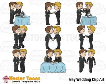 Gay Wedding Clip Art, Digital Clipart, Digital Graphics