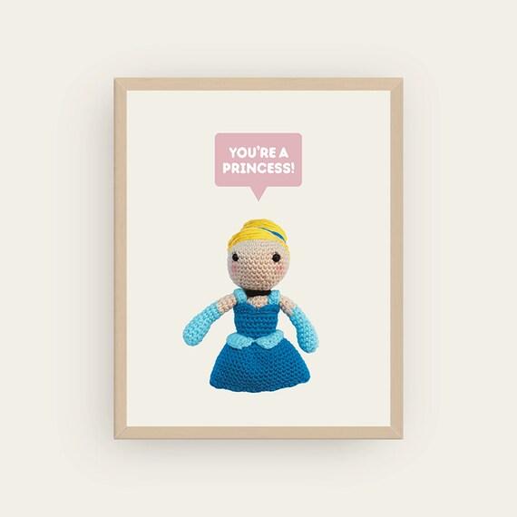 Cinderella: You're a Princess! Amigurumis Prints.