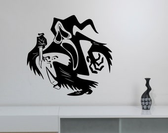 Ghostface Wall Decal Removable Vinyl Sticker Scream Scary Movie Art Decorations for Home Housewares Living Dorm Room Bedroom Decor scm1