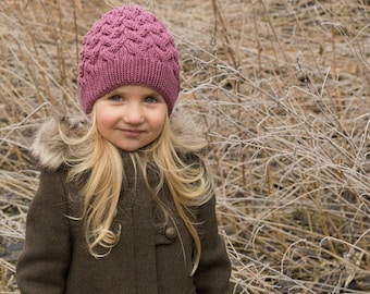 Toddler merino hat, cable knit baby toddler merino  kids knit hats, baby hat with fur pom pom, kids fur pom pom hat, fur toque beanie