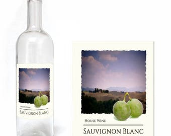 Home Brew Online Premium Quality Water Proof Labels - Sauvignon Blanc 30 Pack