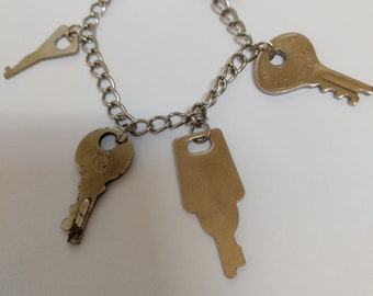 Recycled Key Charm Bracelet