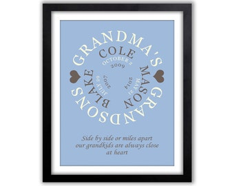 Grandparents Day - Gift For Mom - Gifts for Grandparents - Grandma - Grandparent Gift - Grandparents -  Print Grandkids Print,  Print
