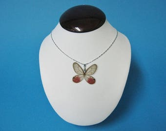 Whole Butterfly Necklace - Cithaerias merolina (1266-NW010)