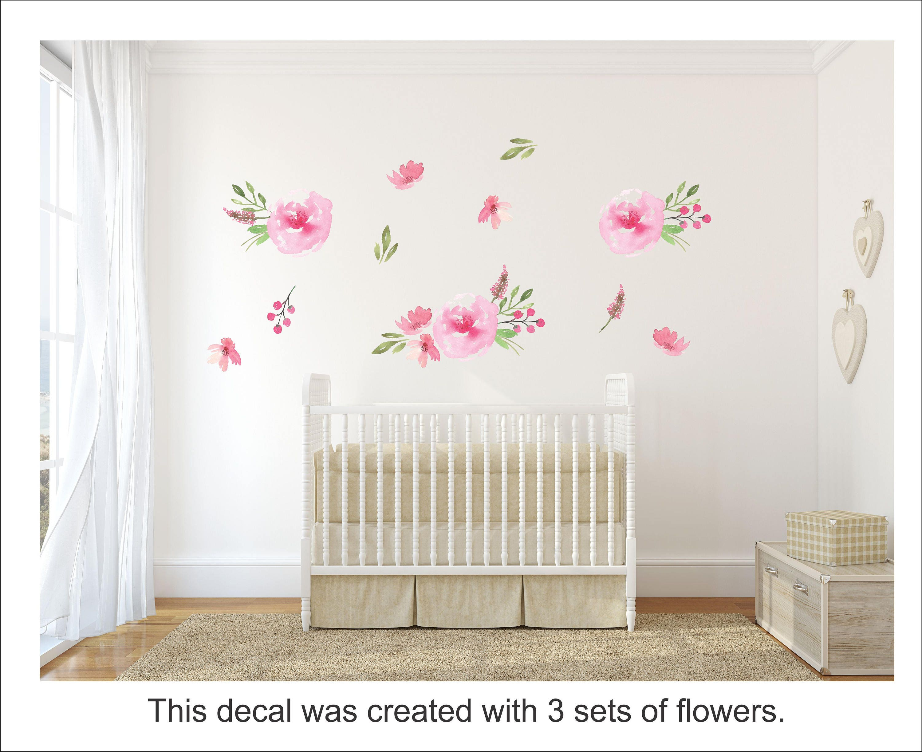 Floral Wallpaper for Renters / Removable and Reusable Fabric Floral ...