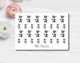 Exercise Panda Stickers   Workout Stickers   Fitness Stickers   Vinyl Stickers   Erin Condren Life Planner Stickers   Animal Stickers   ECLP