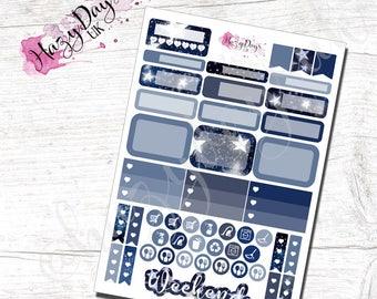 Sketch Stars - Hand Drawn Stars Functional Planner Stickers for Horizontal, Vertical ECLP, BuJo, TN, Kikki.K Filofax, Happy Planner etc