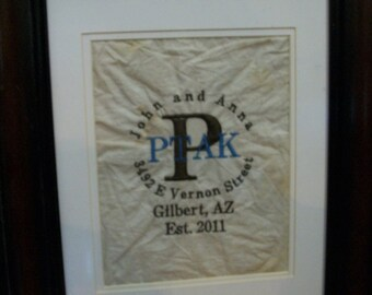 Personalized Name and Address Handkerchiefs