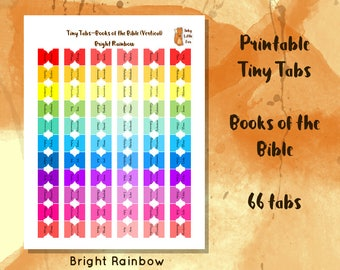 Printable Bible Tabs // DIY Bible Tabs // Rainbow Bible Tabs // Bible Study // Bible Reading // Bible Journaling // Sunday School //