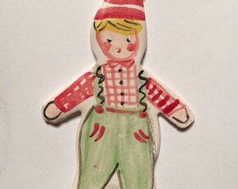 Christmas Ornament, Ceramic Boy Christmas Ornament, Gift for Boy, Unique Christmas ornament, Babys First Christmas