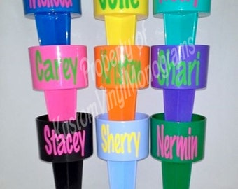 Personalized Spiker / Monogrammed Acrylic Sand Cup Holder / Personalized Beach Accessory / Monogrammed Spiker / Beach Drink Holder / Spiker