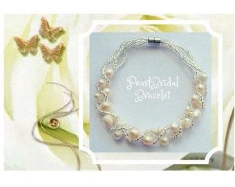 Pearl Bridal Bracelet  Wedding Bracelet Wedding Jewelry Bridesmaid Gift Bridesmaid Bracelet Pearl Bracelet Bridal Jewelry Bridal Party Gift