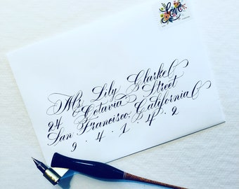 Custom Copperplate Calligraphy Envelope Addressing