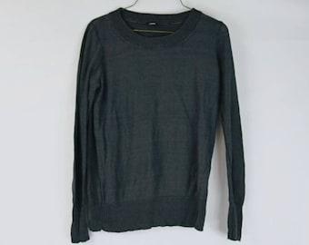 J. Crew Grey Light Knit Sweater