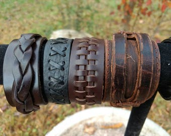 Boho Gothic Leather Diffuser Bracelet Aromatherapy Essential Oil 4 Styles Young Living, Doterra, Oils, Women, Mens Gift, Teens Birthday Gift