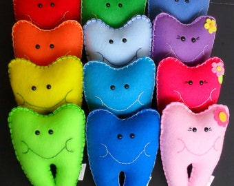 Colorful Tooth Fairy Pillows - Personalized