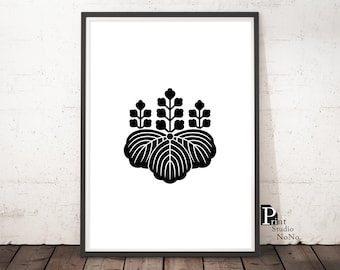 Japanese Art,Japanese Crest Print,Cool Japan,Black and White Print,Modern Print,Home Decor,Wall Art, Gallery,Printable Gift for Home