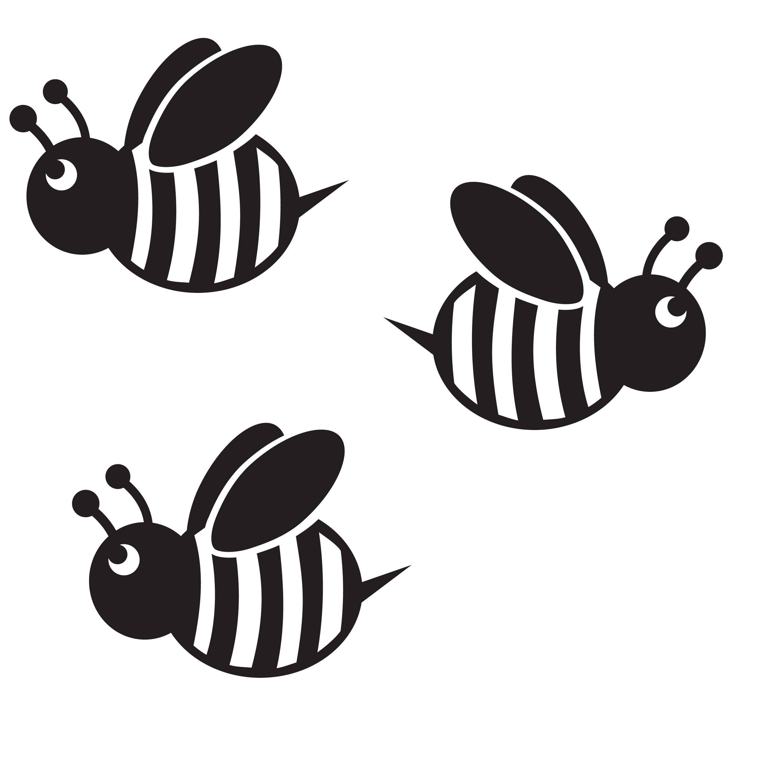 Description This Is For 4 Bumble Bee Decals