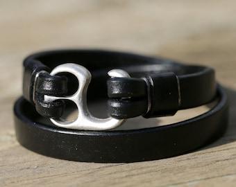 Mens bracelet mens jewelry leather wrap bracelet  handmade leather jewellery  leather bracelet, Anniversary Gift