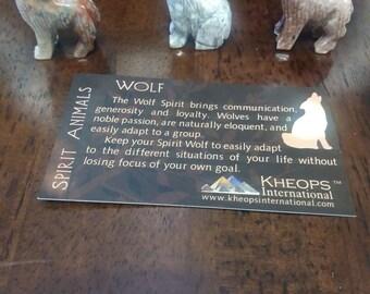 WOLF DOLOMITE ANIMAL- Spirit Animal-Totem Animal