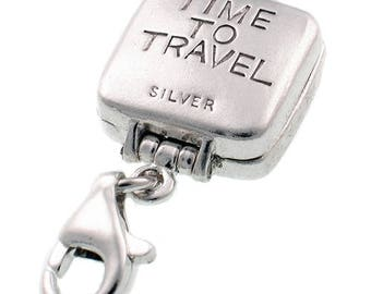 Welded Bliss Sterling 925 Silver Charm. Opening Filigree Travel Clock, Clip Fit WBC1192