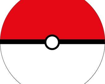 Poke ball Inspired Round Coaster