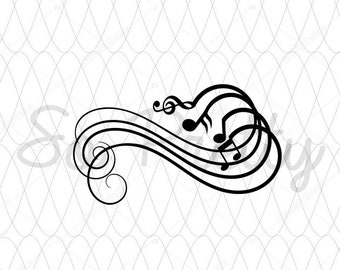 Musical Notes svg, Music svg, Treble Clef svg, Musical staff svg, Music svg files, Music Notes svg, DXF, SVG, PNG, svg swirls. music swirls